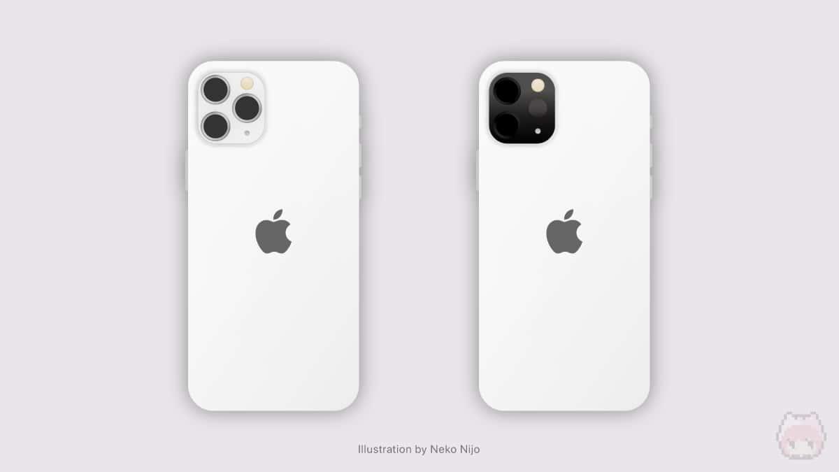 iPhone 12 Miniのノーマルバージョン(左)とLiDARバージョン(右)。