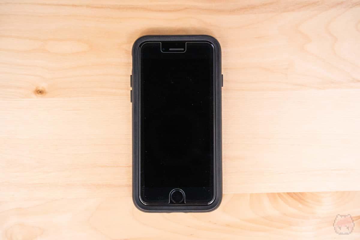 iPhone 8専用ケースが、iPhone SE(第2世代)でも使えた。