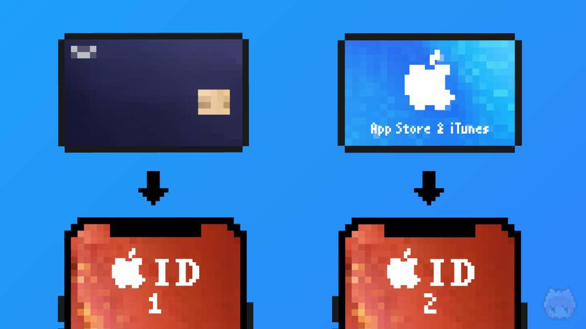 メインのApple IDはクレカ支払い。サブのApple IDはAppleカード支払い。