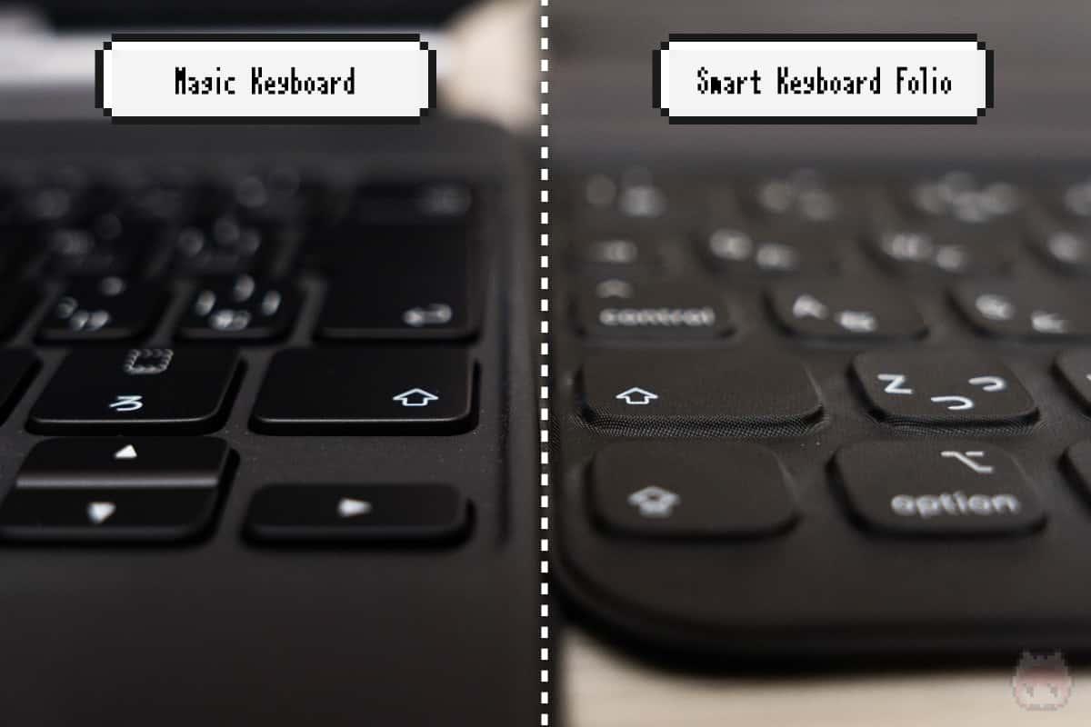 キーの素材的にも、Magic Keyboardのほうが打ちやすい。
