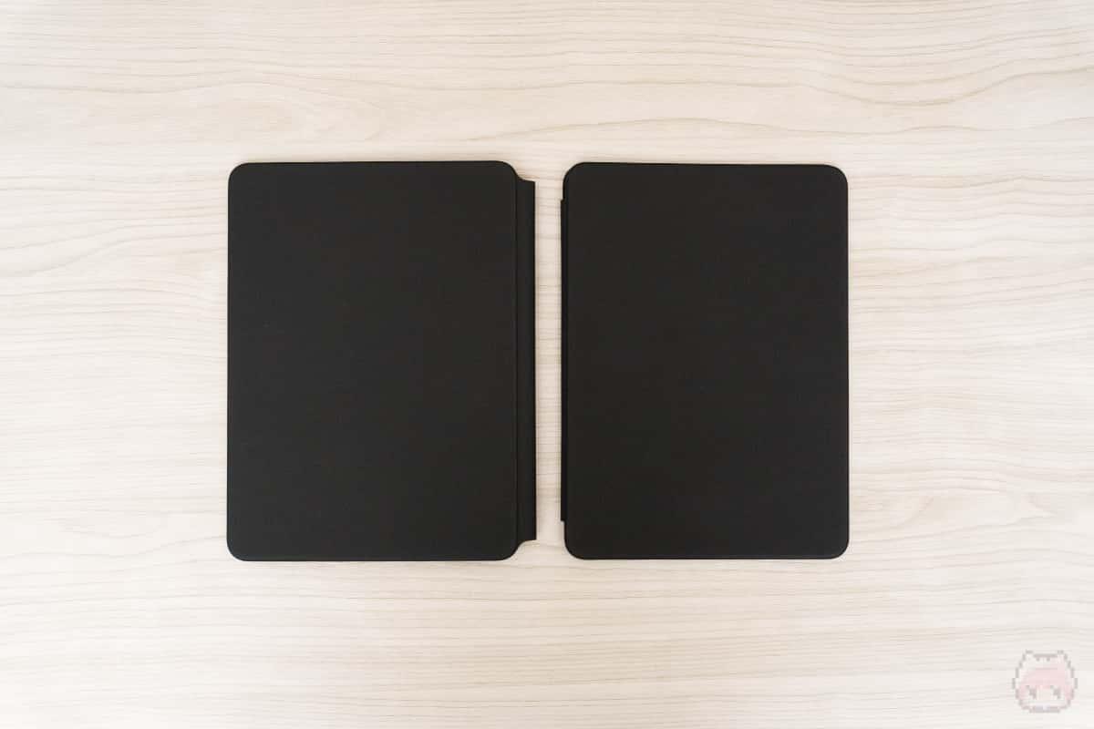 左:Magic Keyboard 右:Smart Keyboard Folio