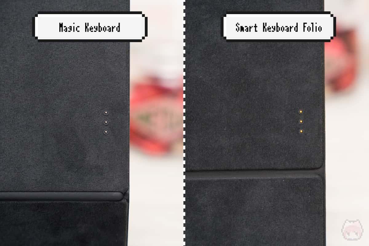 両方ともSmart ConnectorでiPad Proと接続。