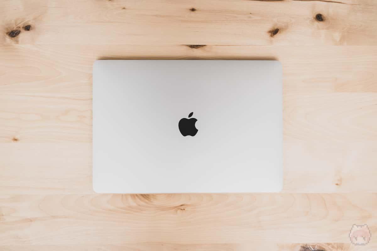MacBook Pro 13インチ(2020)上面。