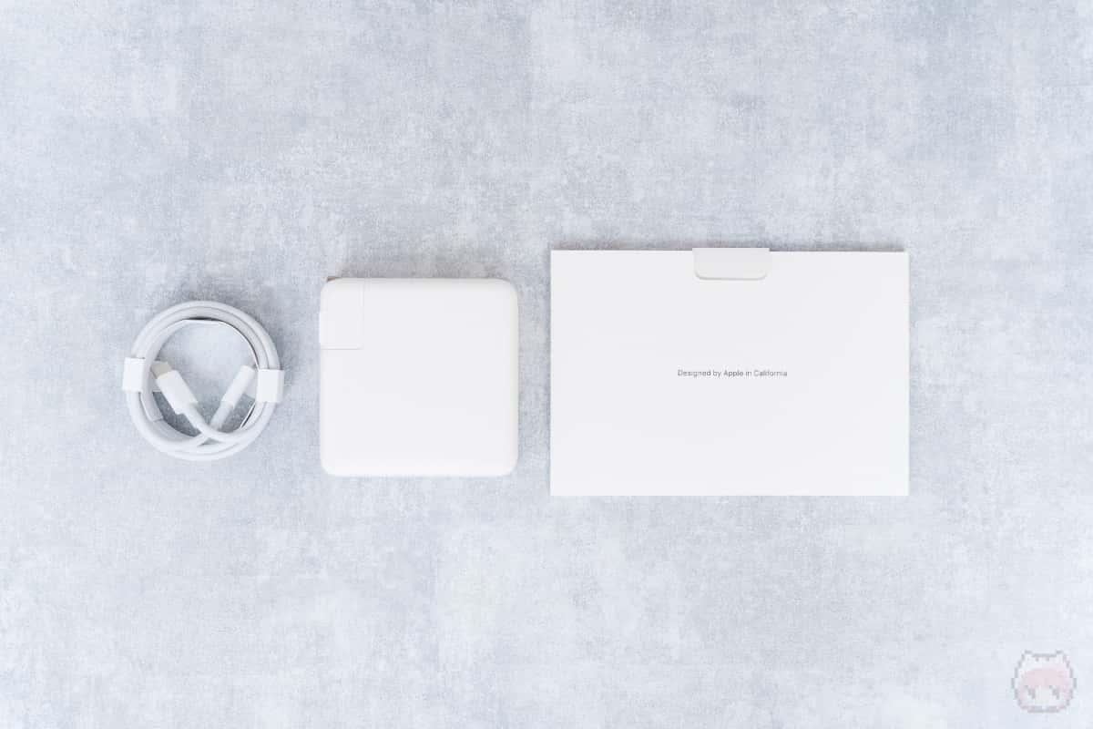 MacBook Pro 16インチ(2019)付属品。
