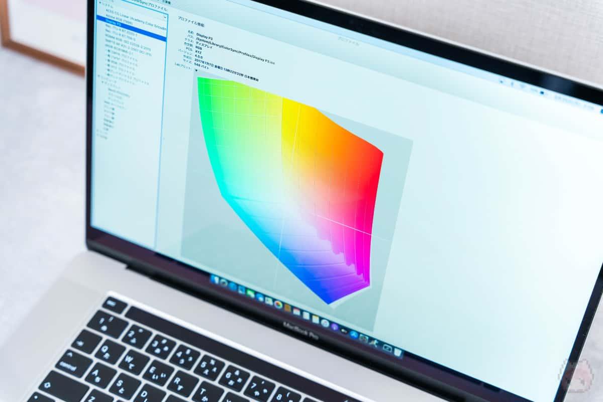 広色域だと、LightroomやPhotoshopでの写真編集に大いに役立つ。