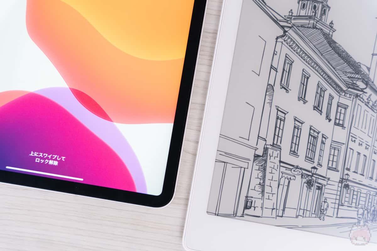 左:iPad Pro 11″ 右:BOOX Max3