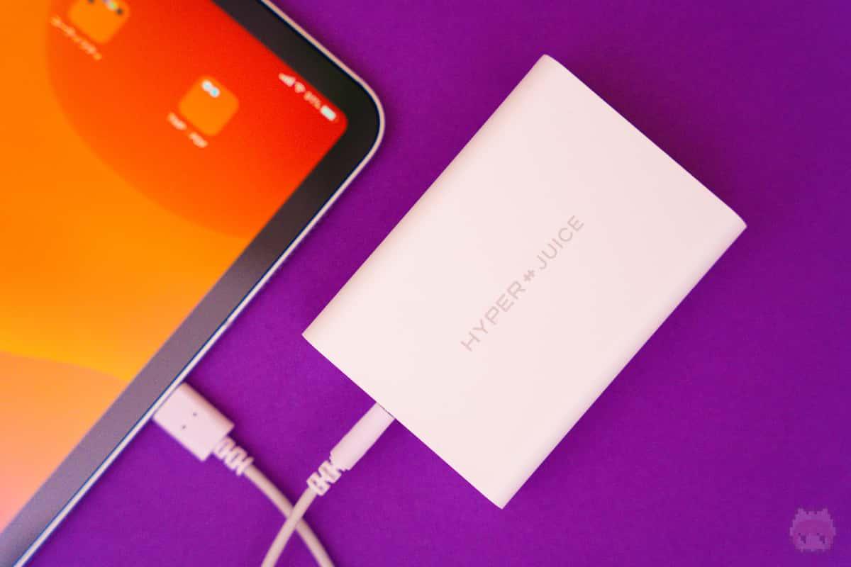 iPad Proは当然余裕で充電可能。
