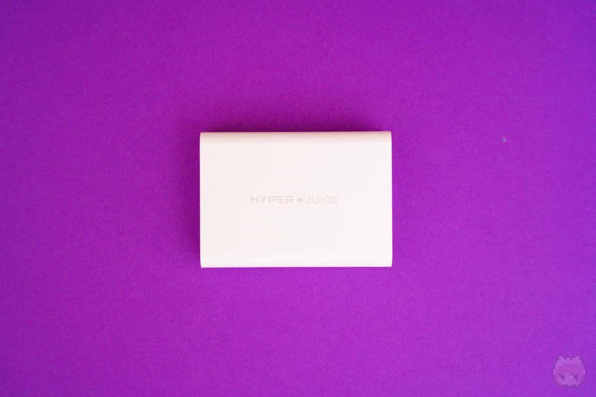HyperJuice 100W GaN USB-C Charger裏面。