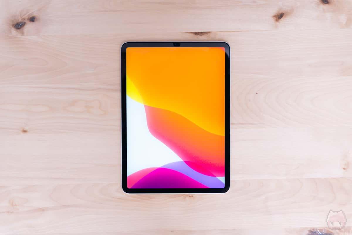 iPad Pro 11インチ(2020)表面。