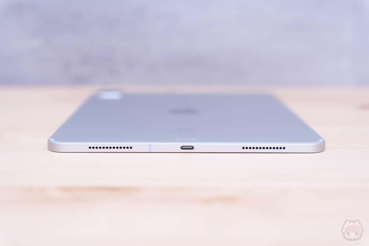 iPad Pro 11インチ(2020)下側面。