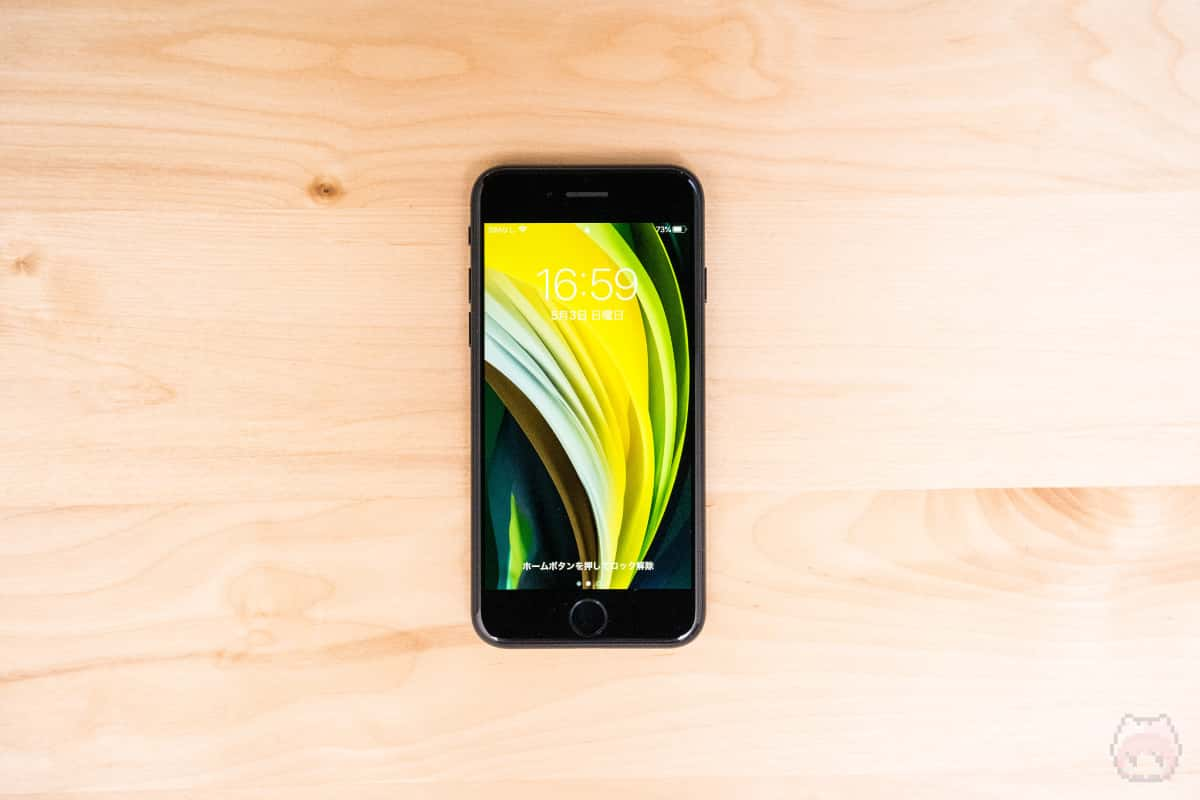 iPhone SE(第2世代)表面。