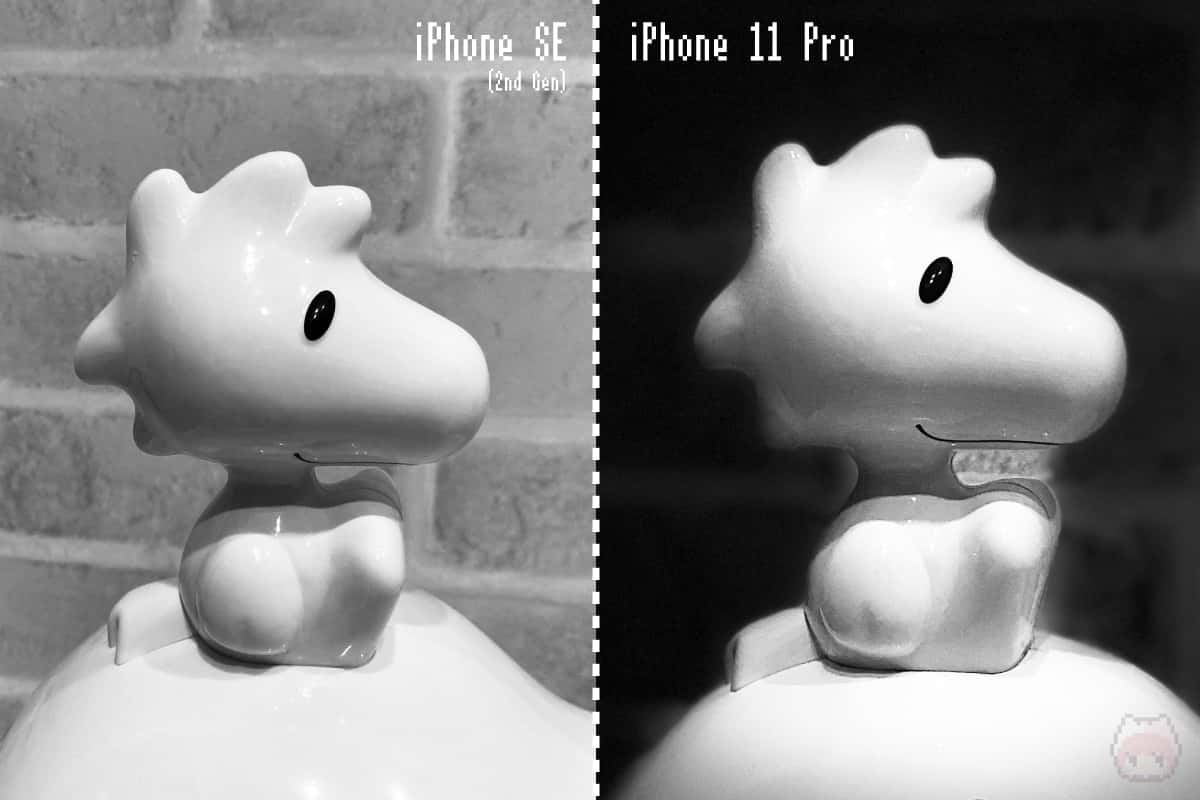 iPhone SE(第2世代) 右:iPhone 11 Pro