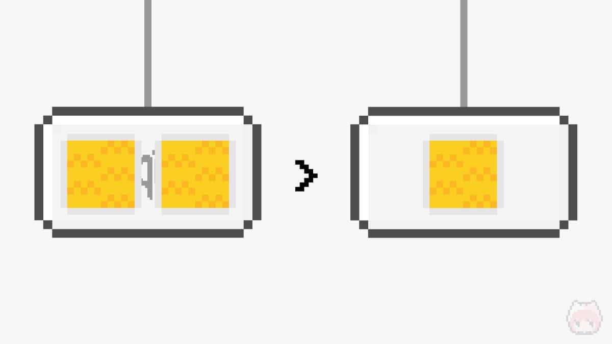コイルの数が多いほうが、ワイヤレス充電のエリアが広い。