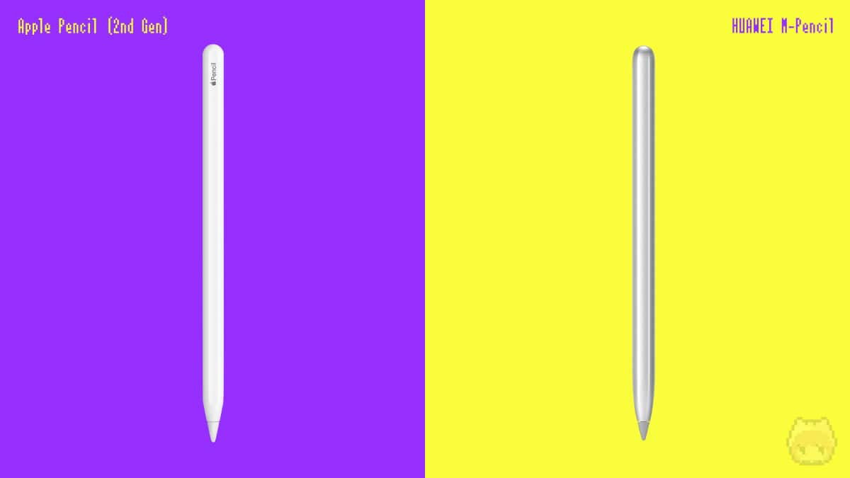 Apple Pencil(第2世代)とHUAWEI M-Pencil。