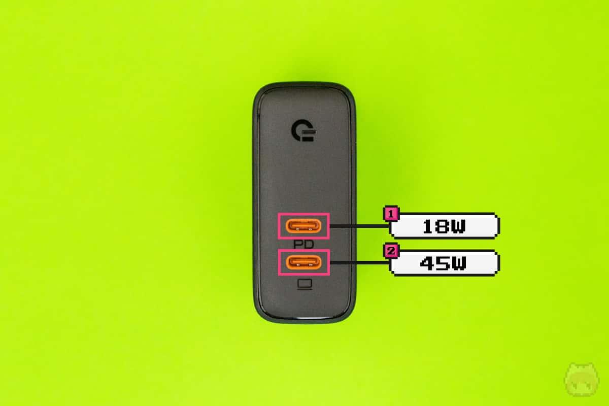 2ポートとも使った場合のUSB PDの最大出力。