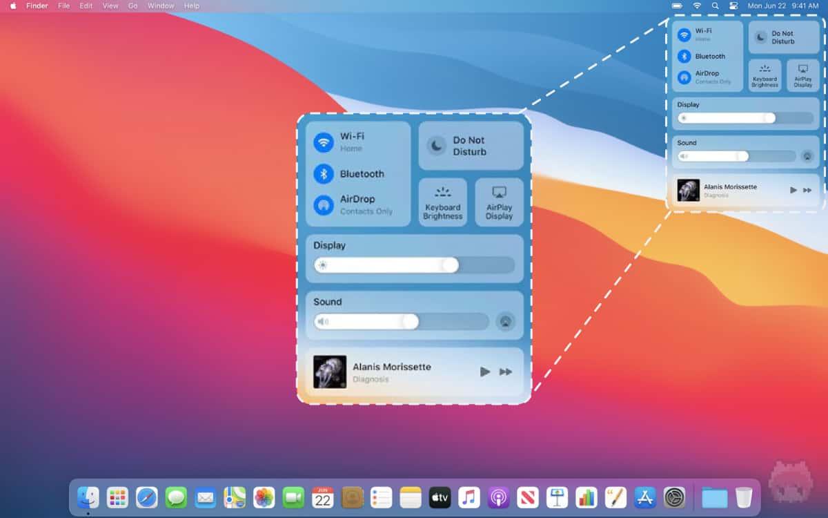 導入された『コントロールセンター』は、iOS・iPadOSライク。