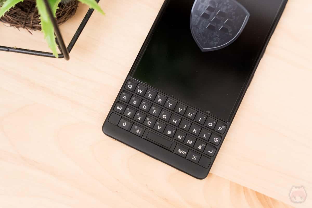 BlackBerry KEY2 Last Editionのキーボード
