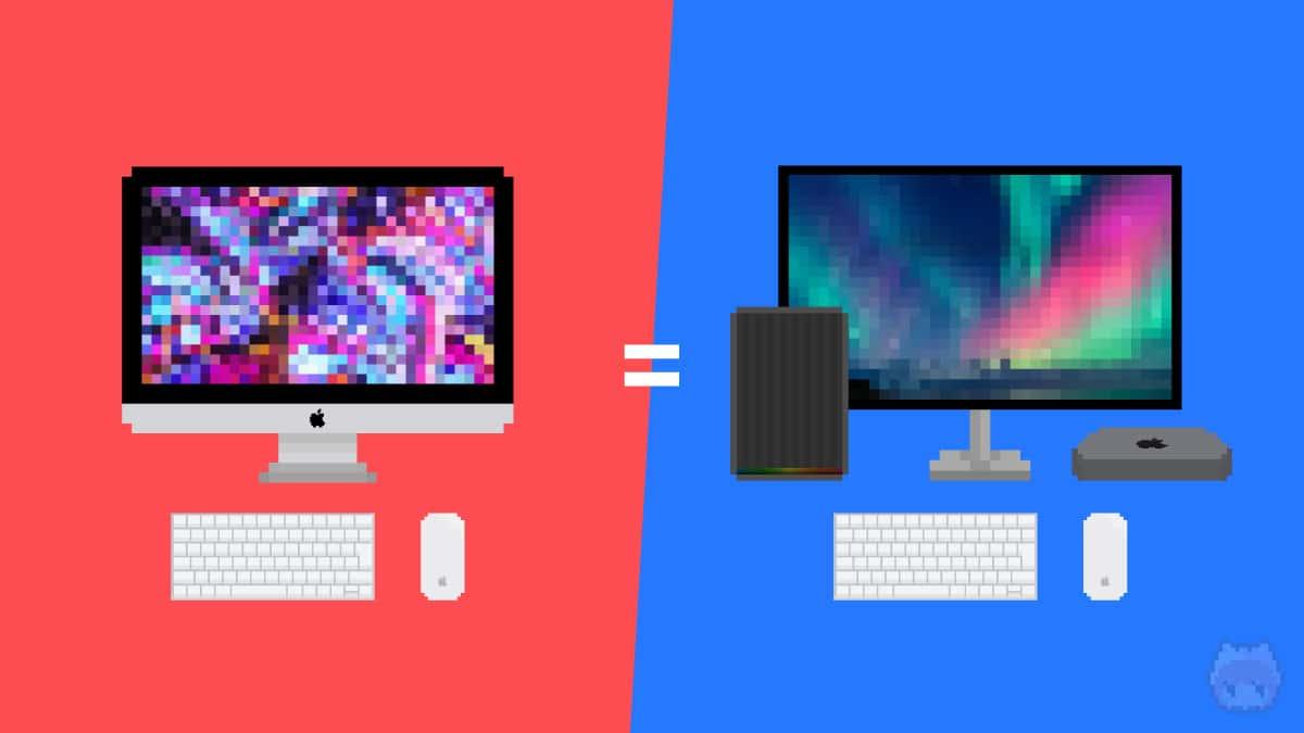 両Macの基本構成を可能な限り合わせる。