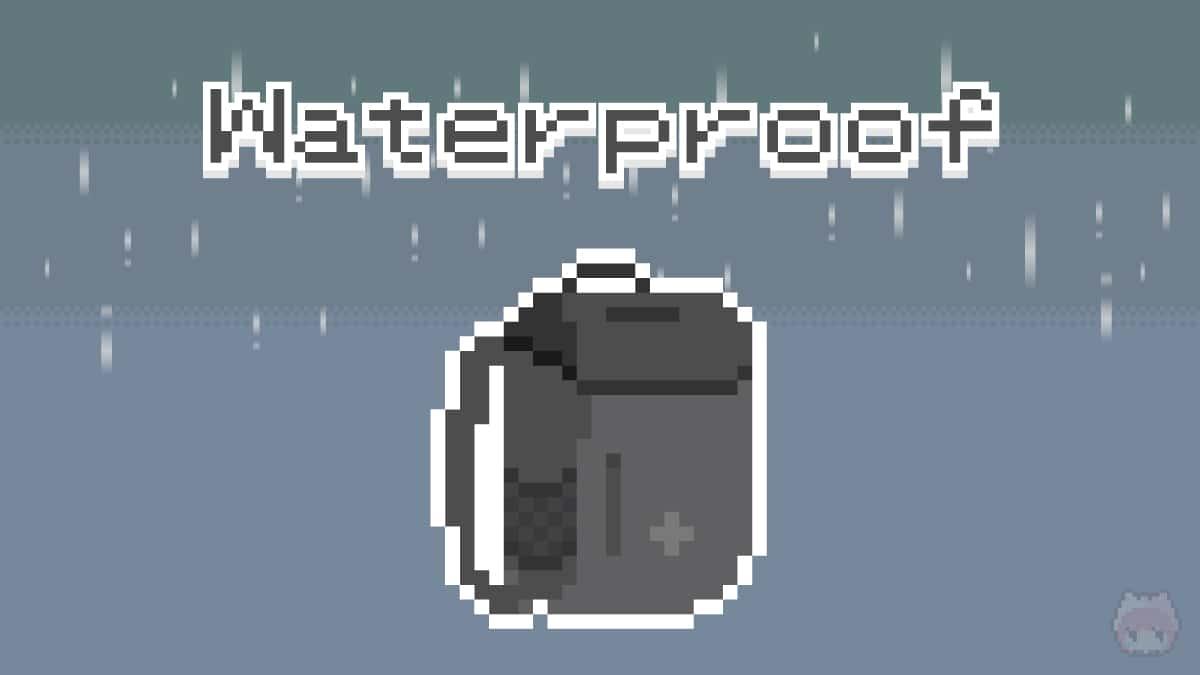 ギークは完全防水バックパックを持つべし。