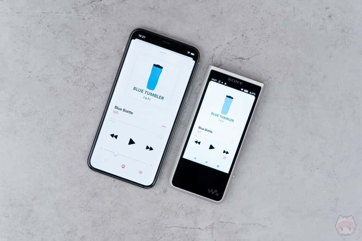 方向性が異なるiPhoneとWALKMAN。