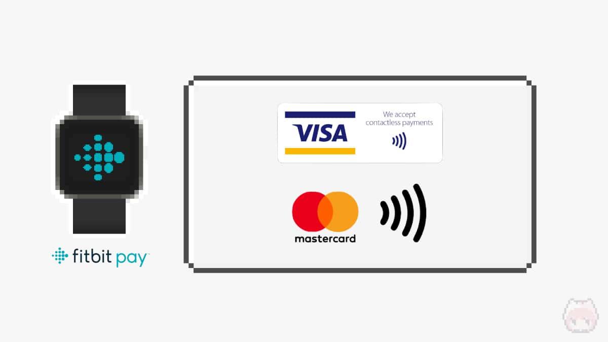 Fitbit Payは、Visaタッチ決済・Mastercardコンタクトレスに対応。