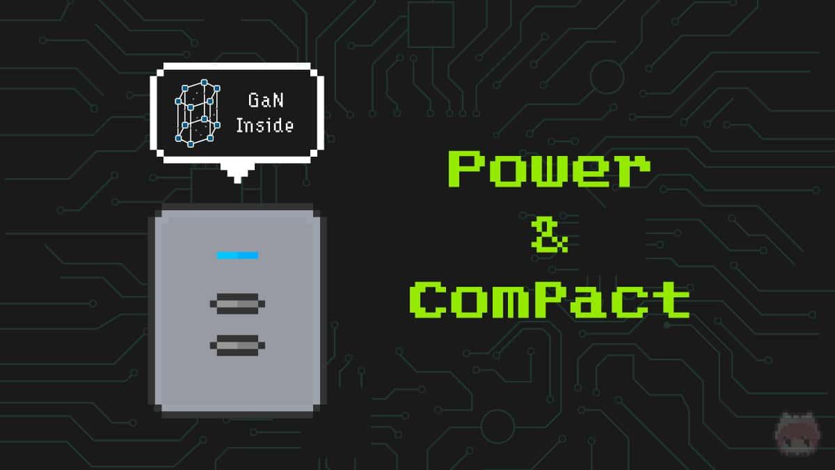 窒化ガリウムパワー半導体搭載USB充電器は、高出力で小型軽量。
