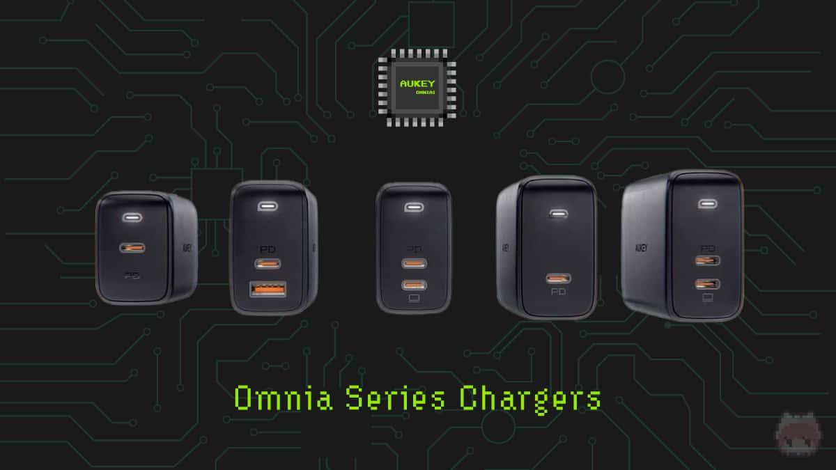 AUKEYのOmniaシリーズUSB PD充電器。