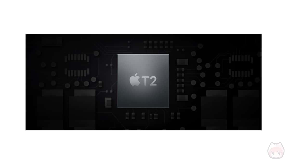 新たに、『Apple T2 Security Chip』が搭載された。