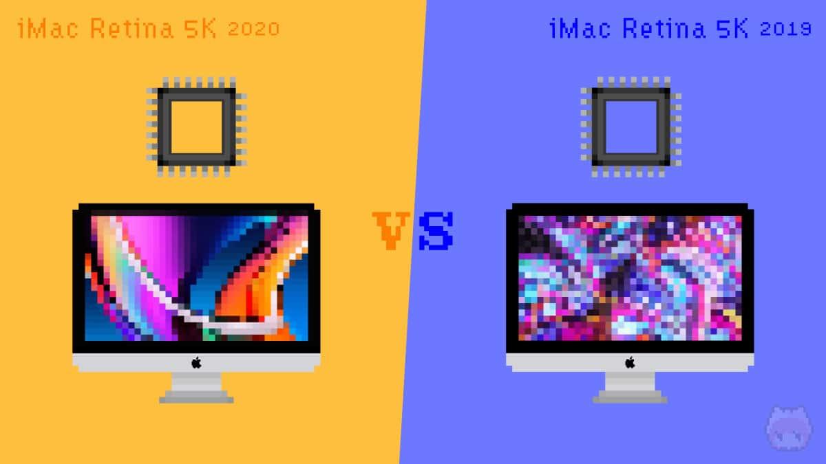 iMac Retina 5K(2020)とiMac Retina 5K(2019)のCPUを比較。