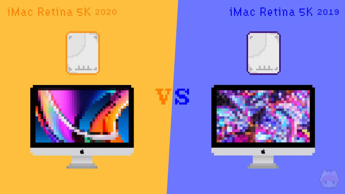 iMac Retina 5K(2020)とiMac Retina 5K(2019)のROMを比較。