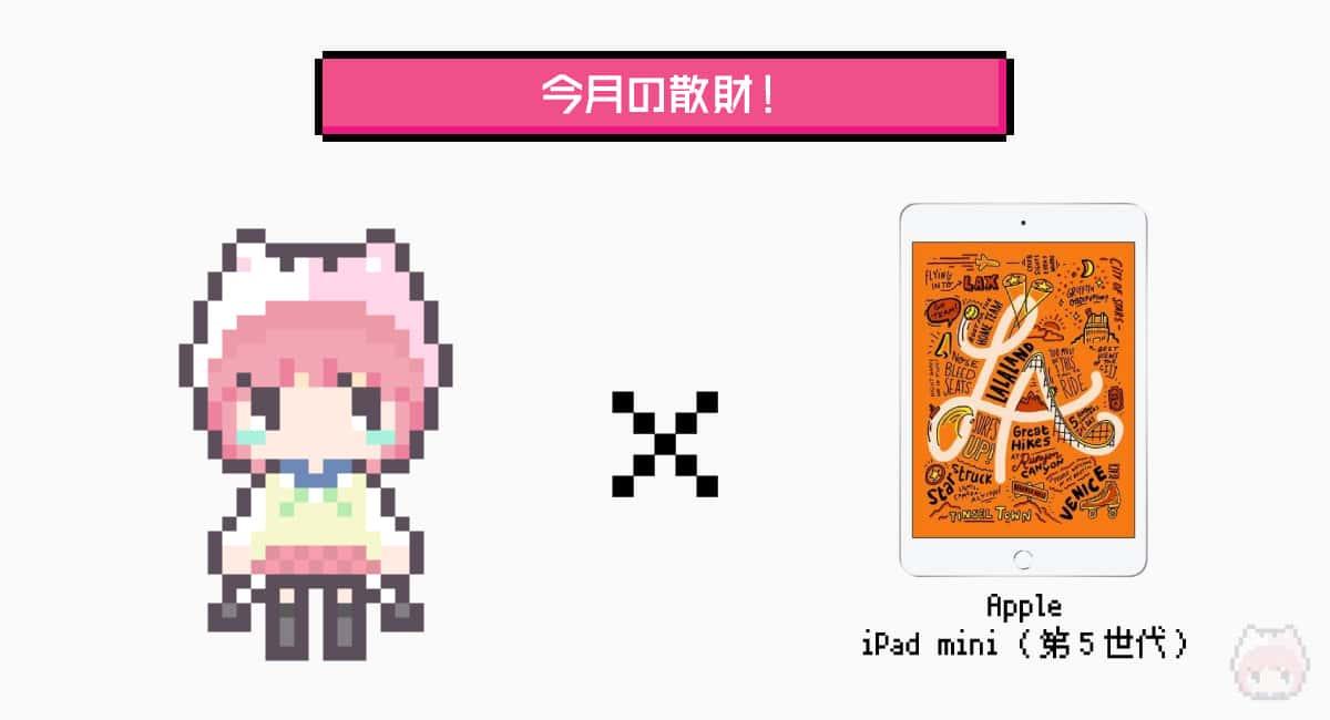 今月の散財は『iPad mini(第5世代)』