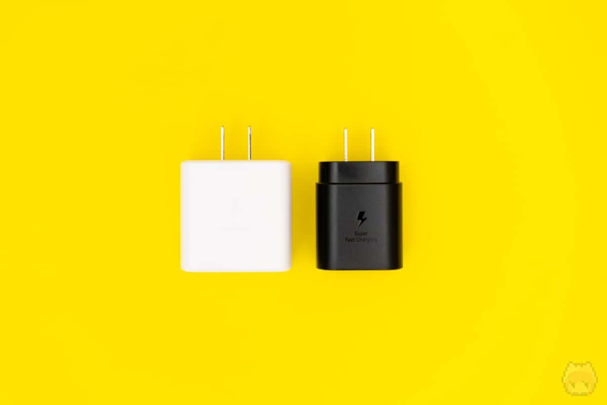 Galaxy Note10+付属充電器では最大25Wの急速充電しかできなかった。