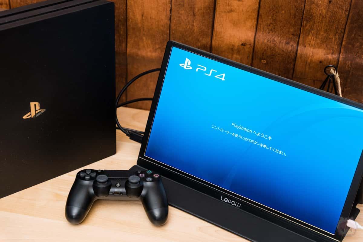 PlayStation 4 ProとZ1を接続。