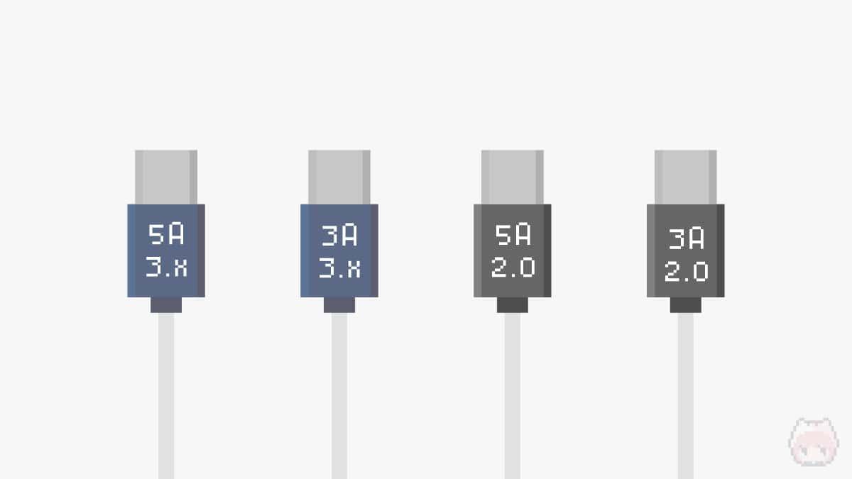 USB Type-Cケーブルの種類