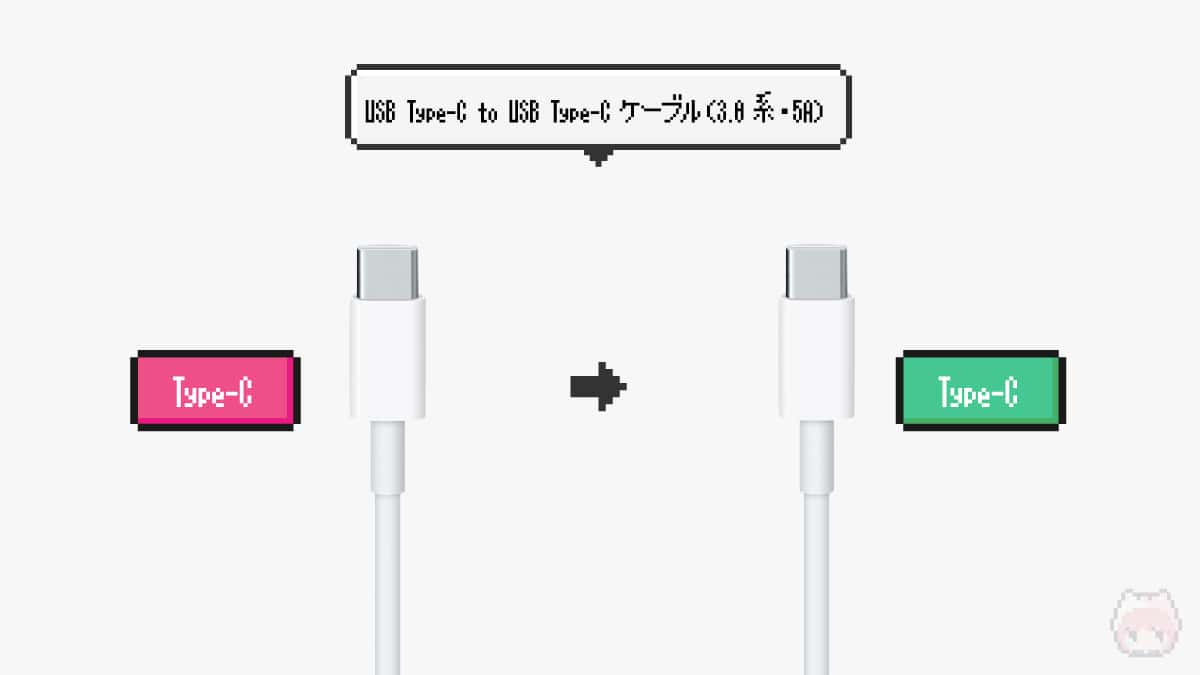USB Type-C to USB Type-Cケーブル(3.0系・5A)