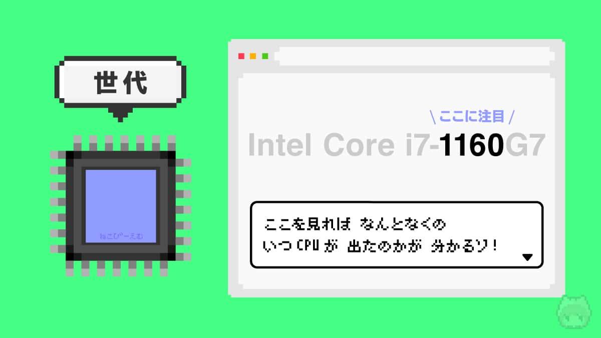 【指標3】CPU世代