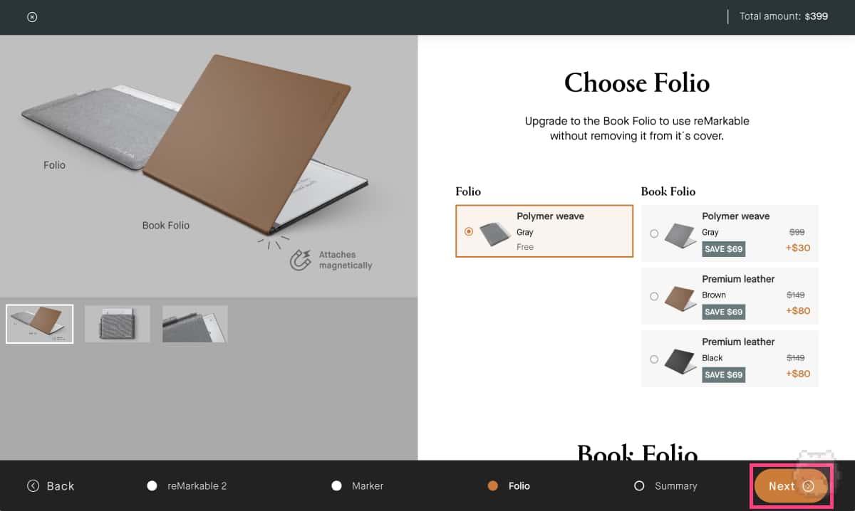 reMarkable 2購入画面