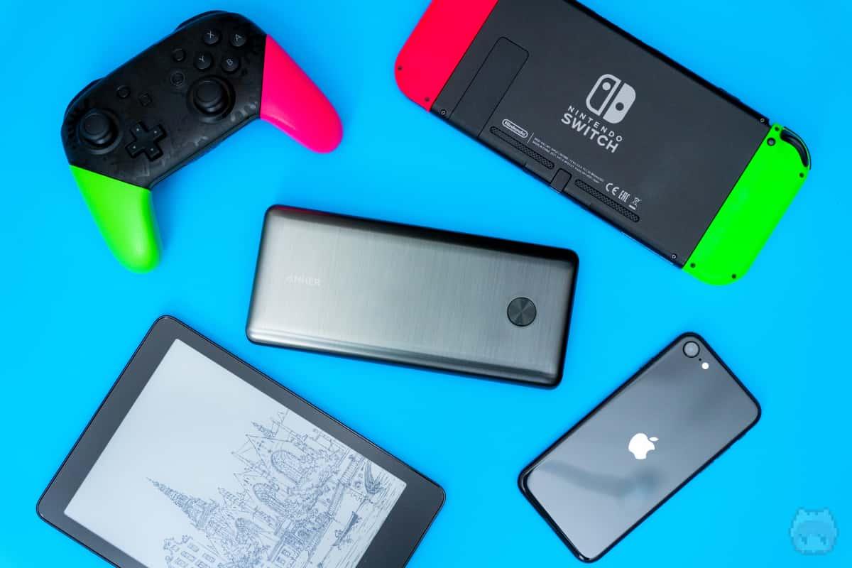 一度にこれらのデバイスをモバイルバッテリーで充電できる!