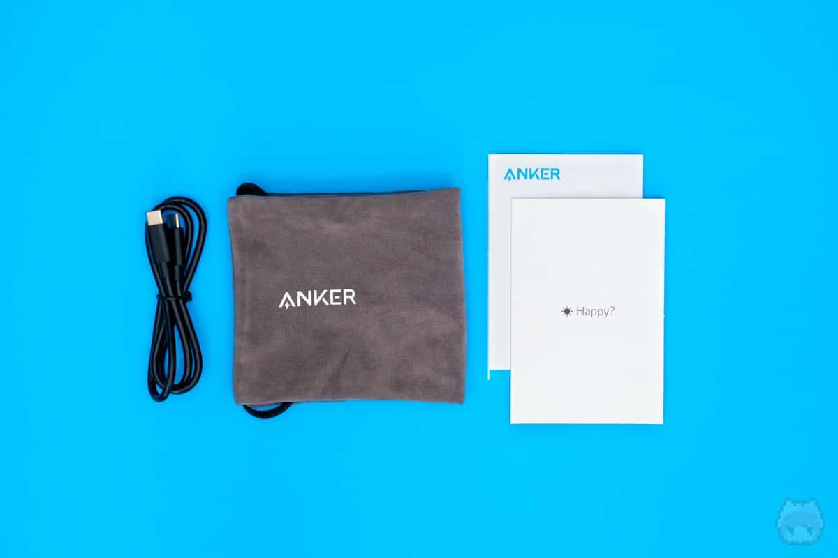 Anker PowerCore III Elite 25600 87W付属品