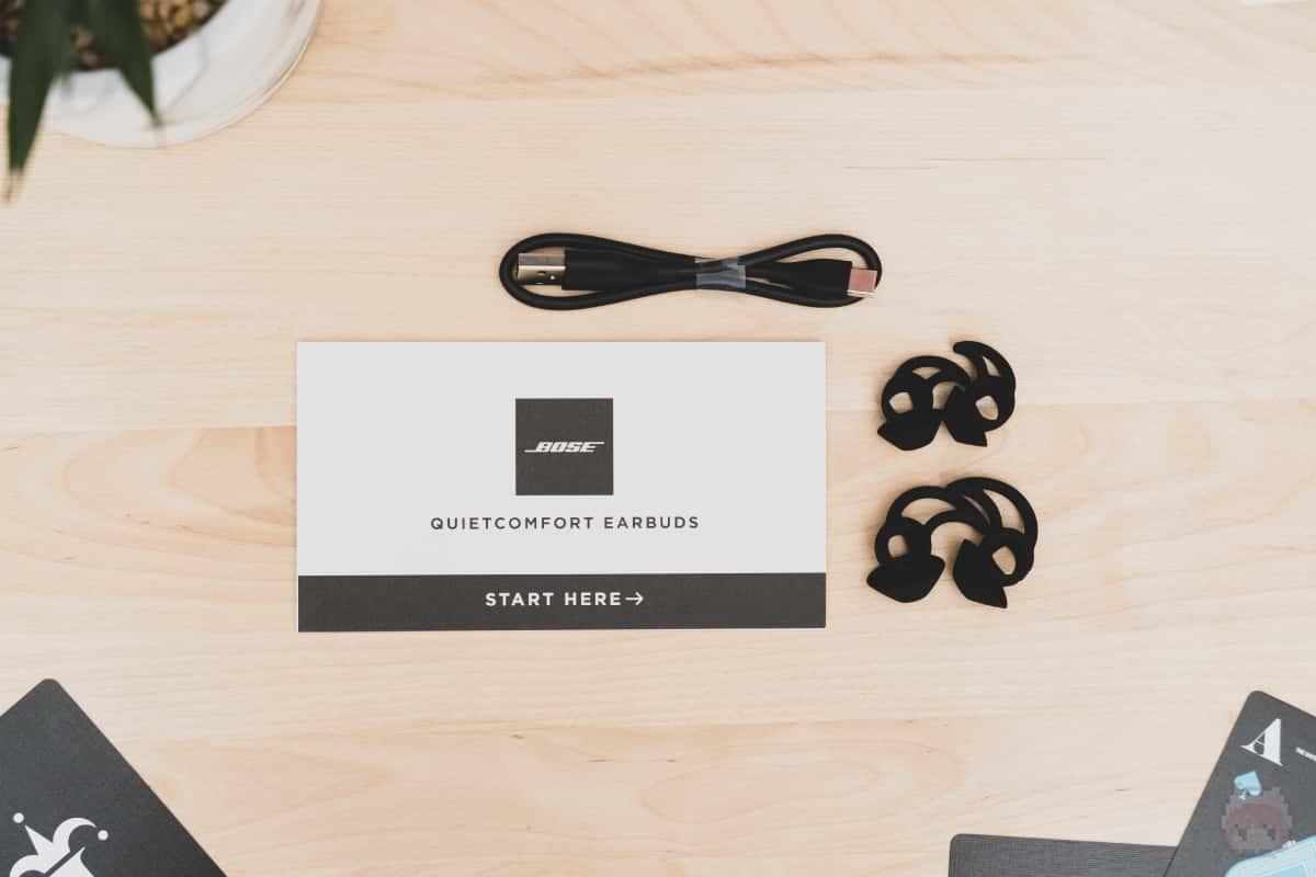 Bose QuietComfort Earbuds付属品