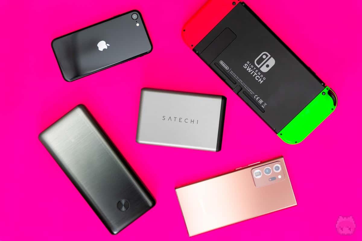 高出力で多ポートなので、一度に複数のデバイスを充電しやすい。