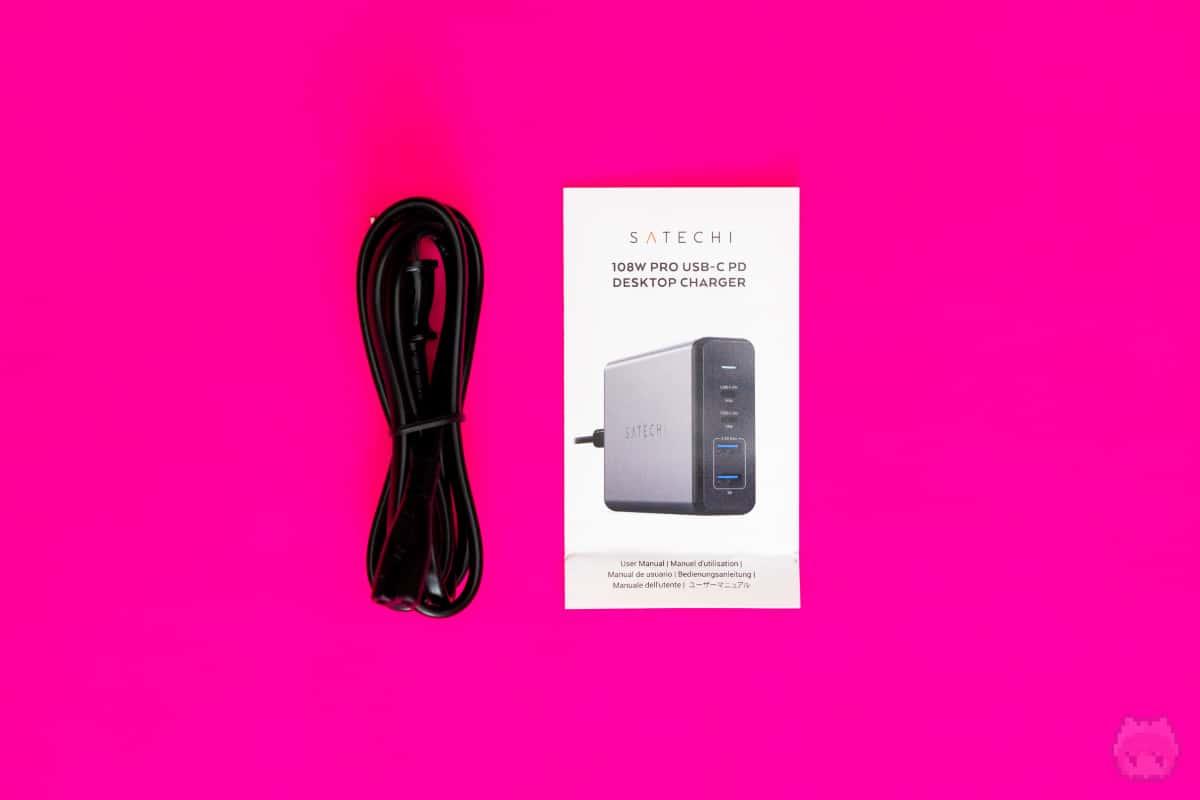 108W Pro USB-C PD Desktop Charger付属品