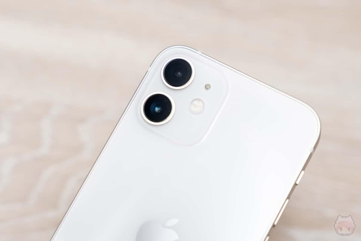 iPhone 12 miniのリアカメラはデュアルカメラ。