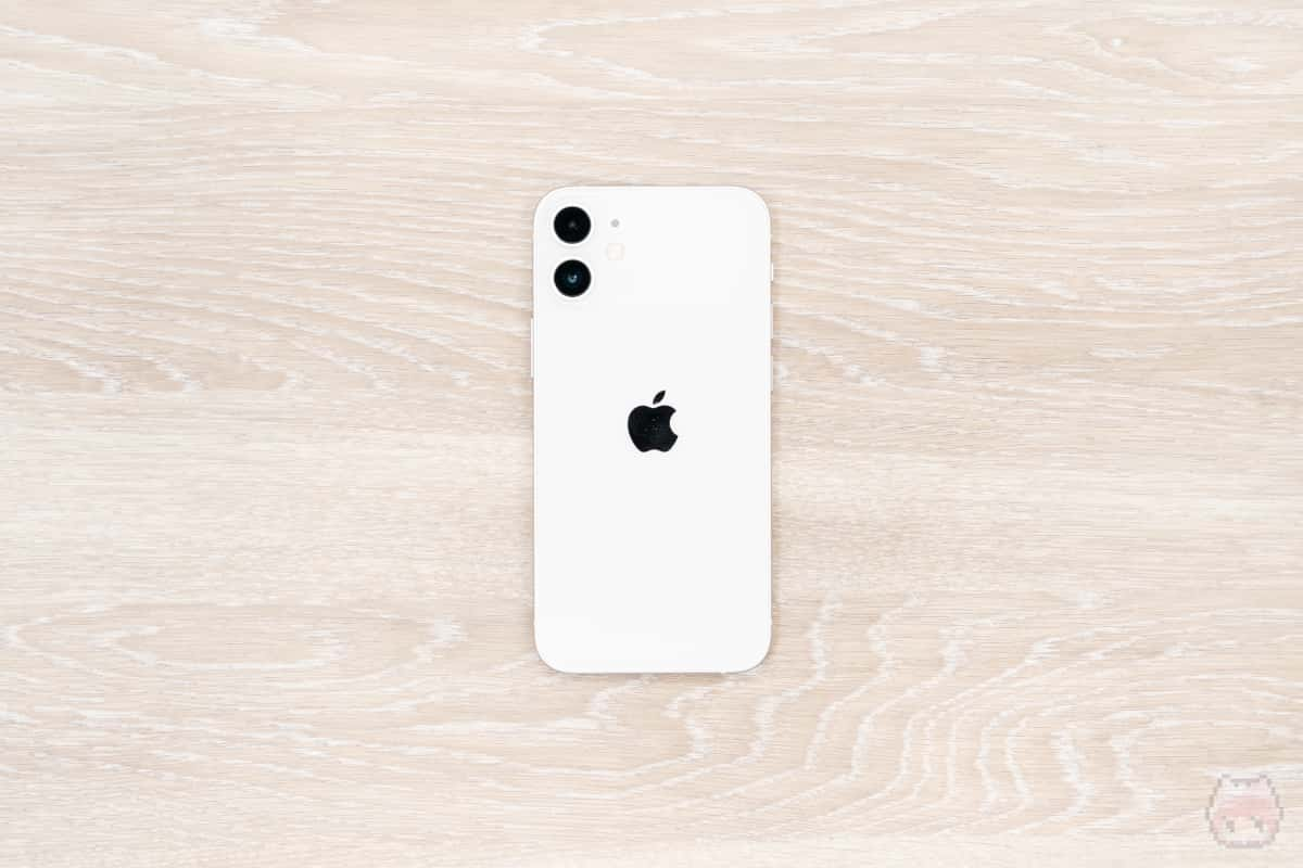 iPhone 12 mini本体裏面