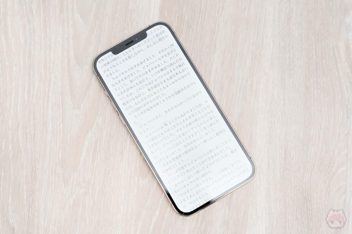 フラットディスプレイは電子書籍の表示に最適。