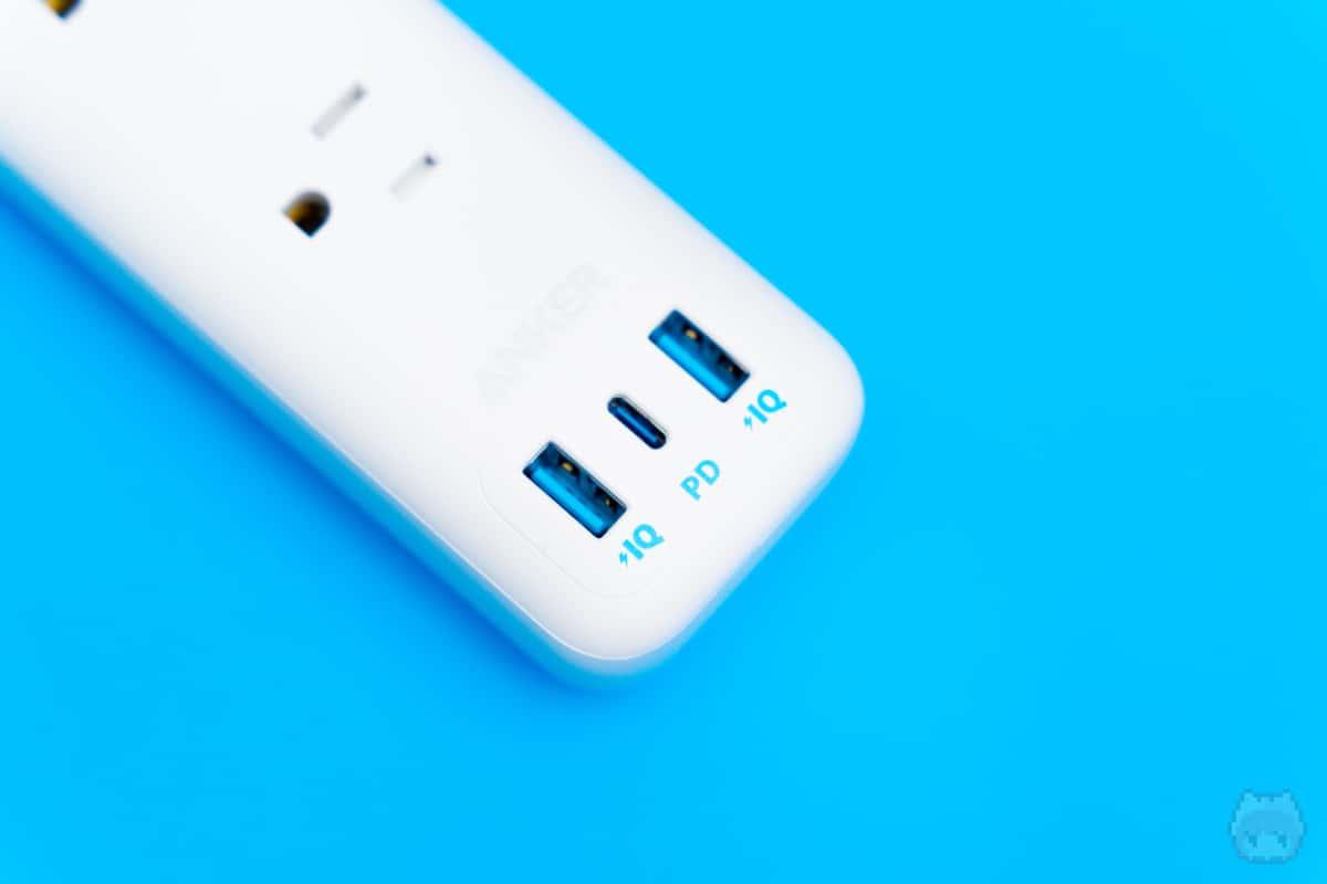 希少なUSB PD(最大30W)が利用可能な電源タップ。