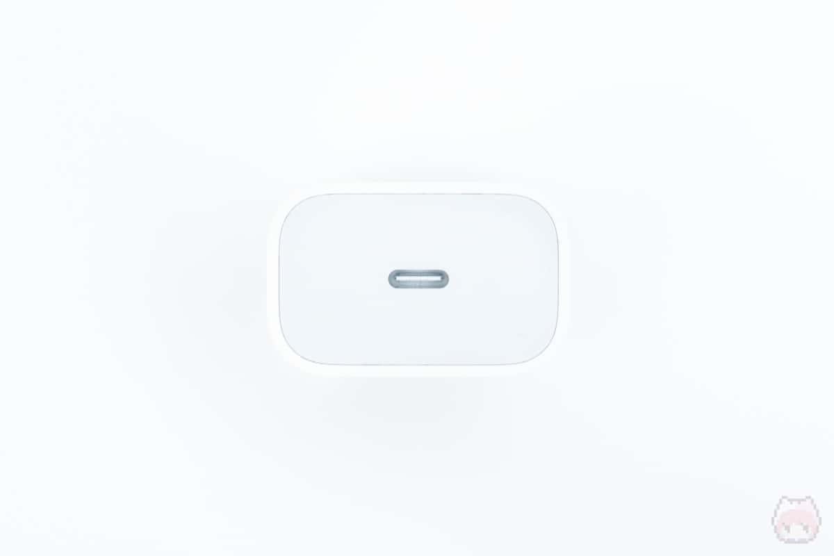 20W USB-C電源アダプタインターフェース部分