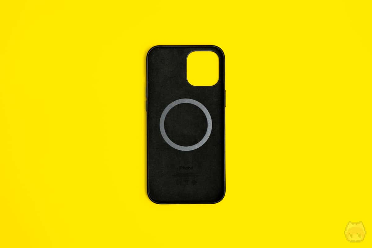 MagSafe対応iPhone 12 Pro Maxレザーケース内面