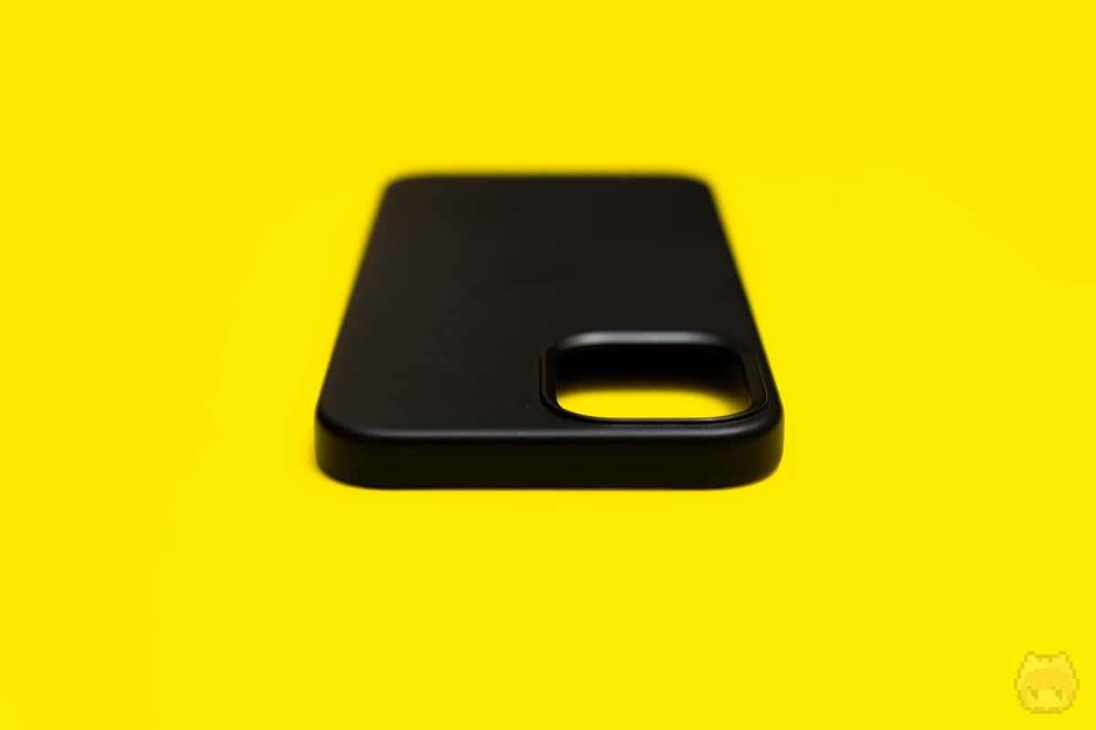 MagSafe対応iPhone 12 Pro Maxレザーケース上面