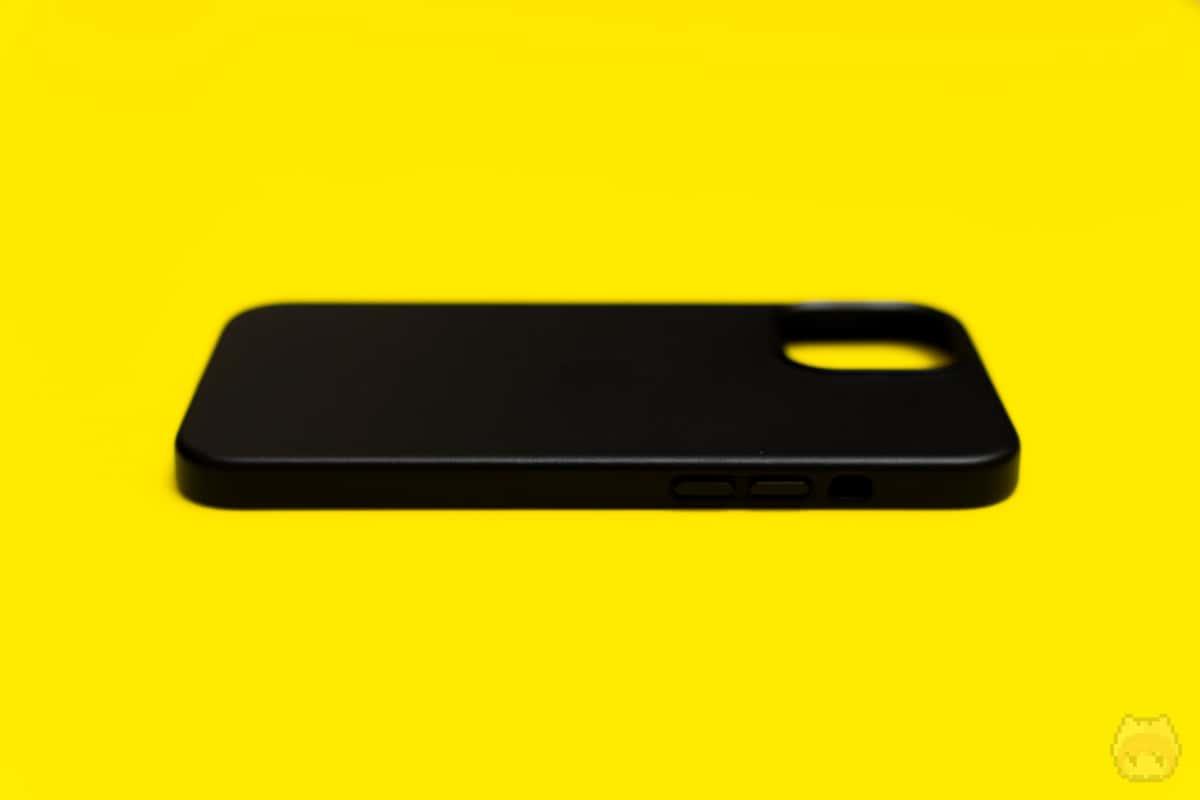 MagSafe対応iPhone 12 Pro Maxレザーケース左面